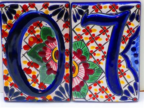 Mexican Tile House Numbers by House Numbers Tile Colorful Tile Home By