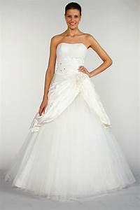 Robe tati mariage robe taffetas et tulle paillete blanc for Robe 20 euros