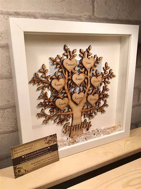 wooden family tree frame wooden family tree family
