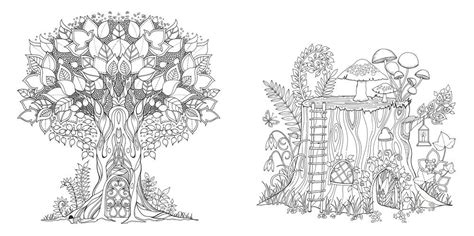 enchanted forest  inky quest coloring book building