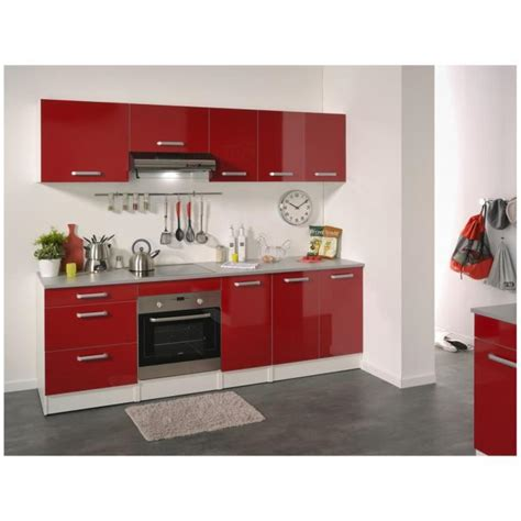 cuisine complete pas cher cuisine complète 240 cm brillant shiny achat vente