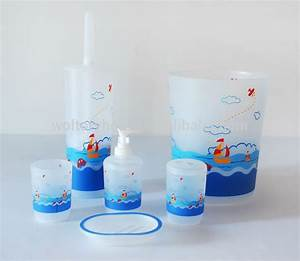 Hot sale bathroom set shower curtain and matching pp bath for Matching bathroom accessories sets