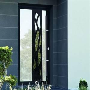 portes d39entree vitree avec effet miroir et monoblocs avec With portes d entrée vitrées en aluminium