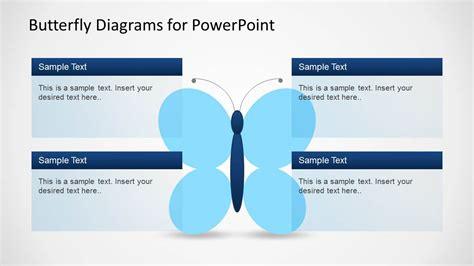 creative butterfly diagrams  powerpoint slidemodel