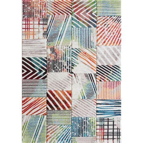 tapis de salon multicolore tendance hugo