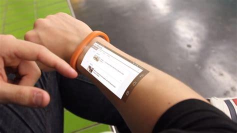 de cicret bracelet een smartphone op je onderarm nos