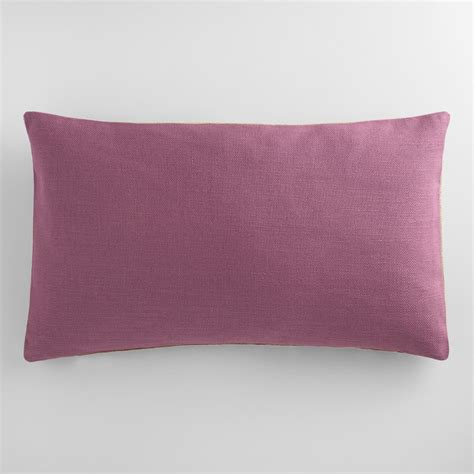 purple lumbar pillow purple herringbone linen lumbar pillow world market