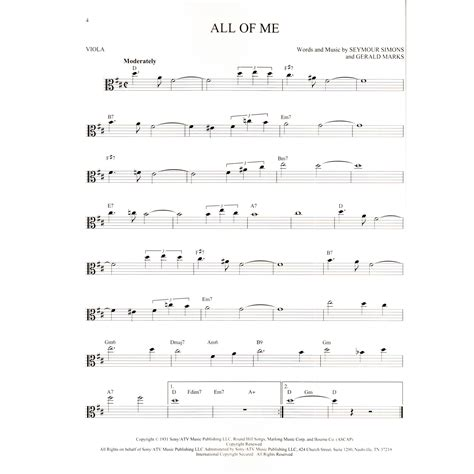 Check out our list of sheet music by popular singers! 101 Jazz Songs for Viola | SHAR Music - sharmusic.com