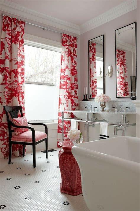 Toile Curtains   Contemporary   bathroom   Sarah