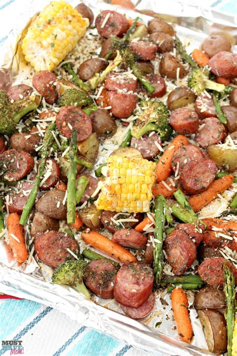 dinners to make sheet pan dinners easy sausage veggie recipe must