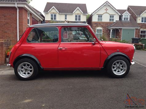 1990 Classic Rover Mini Mayfair, 998cc. Red With A Black Roof
