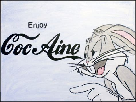 Bugs Bunny. Enjoy Cocaine By Ryanhamiltonart On Deviantart