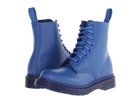 dr martens womens  pascal blue vintage smooth mono boots  sizes ebay