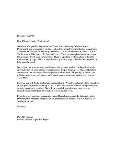 sample career day invitation letter school yolanda