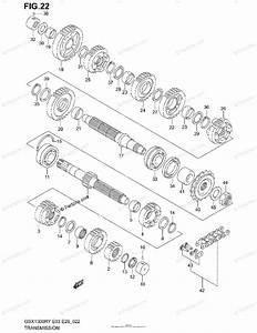 Suzuki Motorcycle 2003 Oem Parts Diagram For Transmission