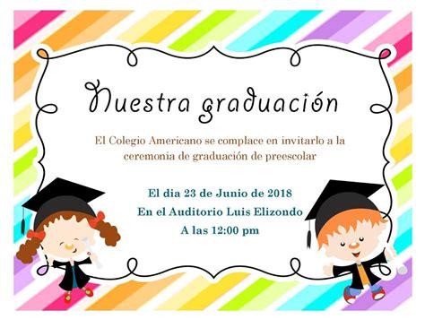 Frases Para Invitacion De Clausura De Preescolar