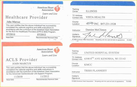 The american heart association (aha) is a nonprofit organization in the united states that funds cardiovascular medical research, educates consumers on healthy living and fosters appropriate. 45 Free Cpr Card Template   Heritagechristiancollege