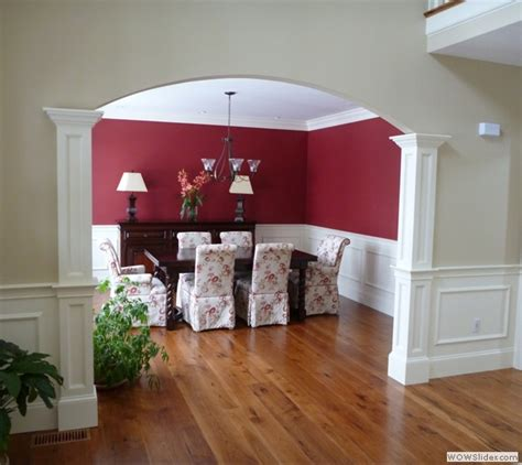 flat crown molding adds audacious luxury for every corner columns archway molding wall framing shadow boxes