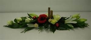 Art Floral Centre De Table Noel : centre de table rouge et blanc closcrapflower ~ Melissatoandfro.com Idées de Décoration