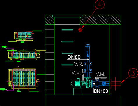 Camera Of Waters Disinfection Dwg Section For Autocad