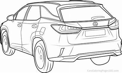 Coloring Lexus Rx Rear Pages Printable Carscoloringpages101