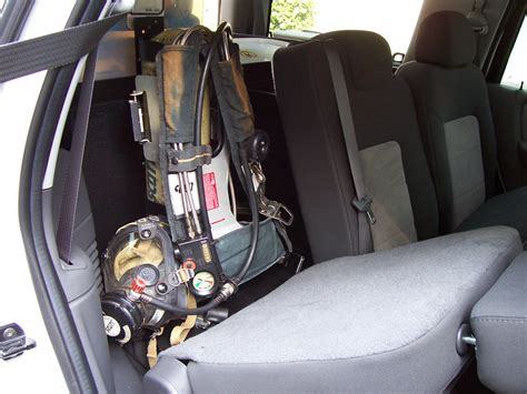 storage command rear unit scba air pack klein mounting box cargo units board remove hold systems