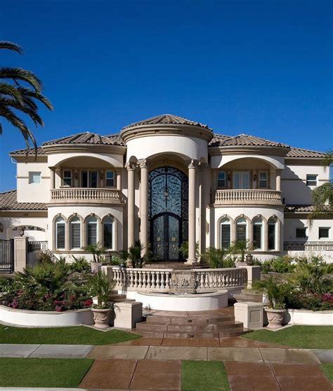 House Front Balcony Designs Exterior Mediterranean With