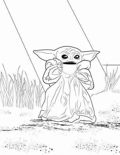 Yoda Coloring Printable Wars Meme Drawing Colouring