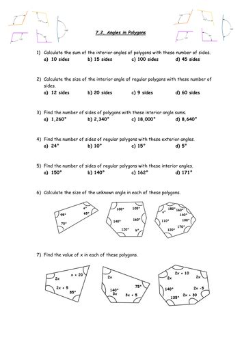 gcse higher revision 7 2 angles in polygons by