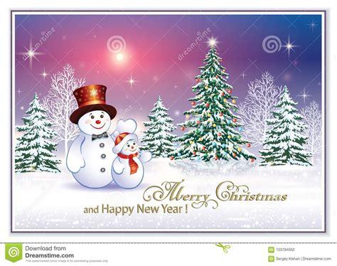 merry christmas happy year stock vector illustration