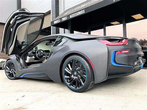 custom wrapped bmw  custom painted blue matching pinstripe  star motorsports gallery