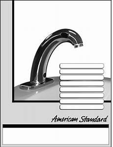 American Standard 6058 102  6058 105  Ceratronic Proximity