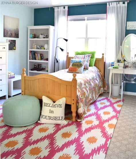 Fuschia + Turquoise Bedroom Makeover  Jenna Burger