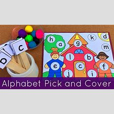 Preschool And Kindergarten Alphabet Recognition And Fine Motor Acitivity Youtube