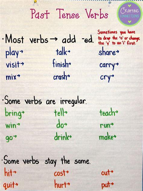tense verbs anchor chart verbs anchor chart anchor