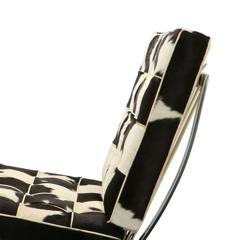 Barcelona Chair Cowhide by Barcelona Chair Cowhide Black White Furnaround