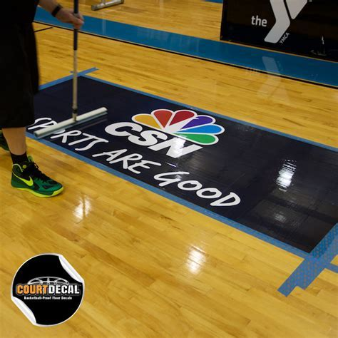 COURTDECAL? ? BASKETBALL PROOF FLOOR DECAL KIT