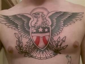 Sailor Jerry's chest eagle- Andrew Milko. Omaha, NE : tattoos