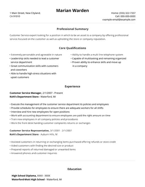 Pre Written Resume by 99 Free Professional Resume Formats Designs Livecareer