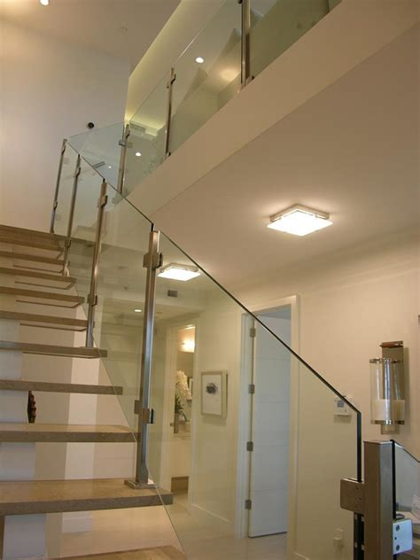 stair balcony railing  glass partitions alpha glass