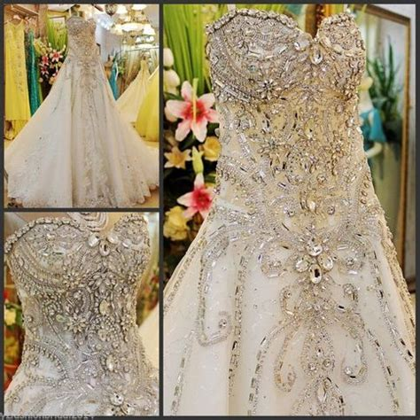 yz beads crystal sexy diamond wedding dresses nmxx  storenvy
