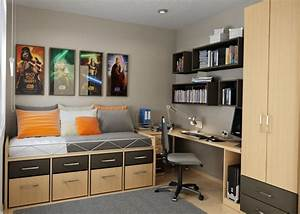 bedroom ideas for teenage boys With cool bedroom ideas for small rooms