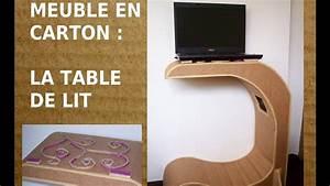 table de lit en carton comment fabriquer un meuble en With comment fabriquer un meuble en carton