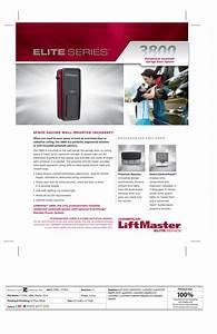 Liftmaster 3800 Garage Door Opener User Manual
