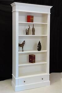 Bücherregal Weiß Holz : regal b cherregal massivholz in wei shabby chic 1908 ebay ~ Indierocktalk.com Haus und Dekorationen