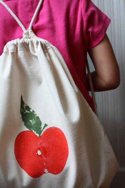 school craft apple print backpack alpha mom