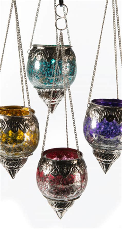 moroccan style hanging lantern tea light candle holder moroccan hanging crackle glass tealight holder with a