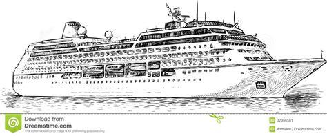 cruiseschip stock afbeelding afbeelding bestaande uit