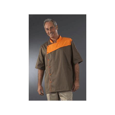 veste cuisine personnalisé veste chocolatier à plaston manches courtes label blouse