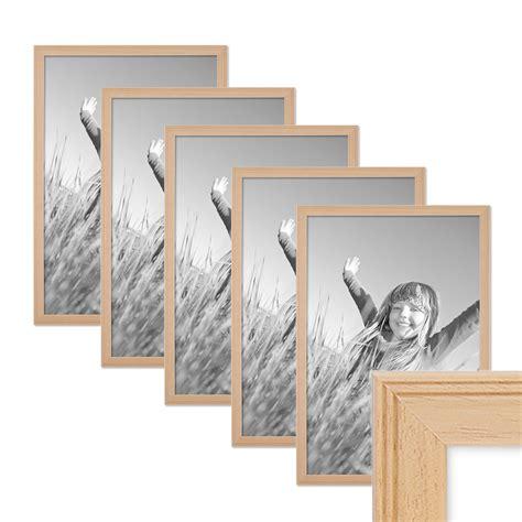 bilderrahmen a3 holz 5er set landhaus bilderrahmen 30x42 din a3 cm holz natur